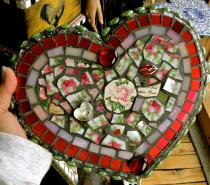Mosaic Tile Valentine Heart